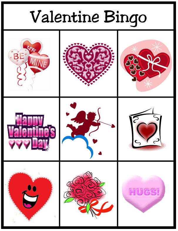 image regarding Printable Valentine Bingo Card referred to as Valentines Working day Bingo Recreation totally free printable Suggestion Junkie