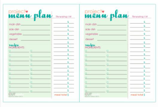 photograph relating to Printable Dinner Planner named Supper Bash Menu Program no cost printable Idea Junkie