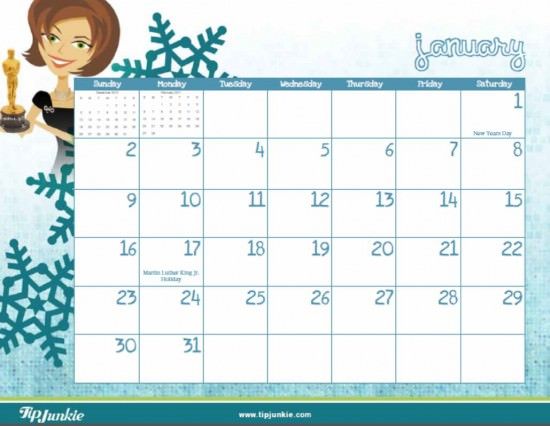 all crafts 2011 Calendar:  Free Printable Calendar from Tip Junkie