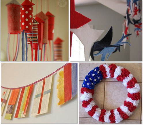 fourth of july decorations to make. 4th of July Felt Star Wreath