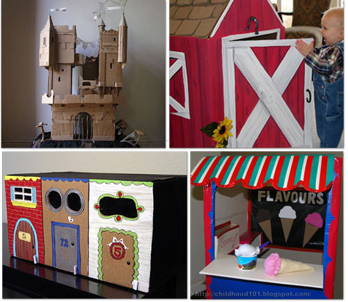 activities for kids out of a cardboard box