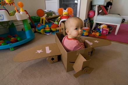 Cardboard Box 1st Birthday Party