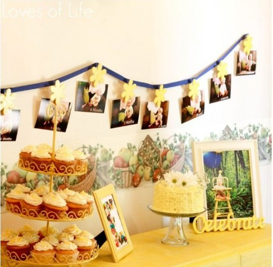 First Birthday Cake and Decor