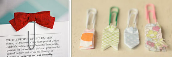 homemade paper clip bookmark tutorial
