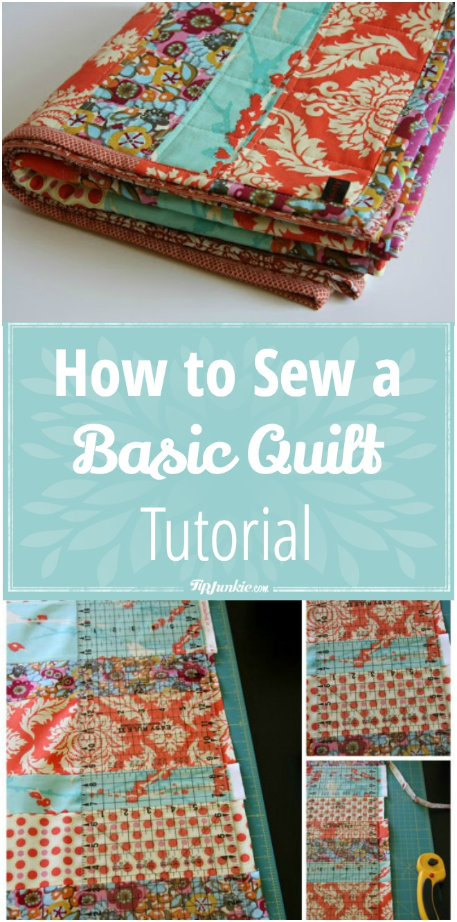 How to Sew A Basic Quilt Tutorial