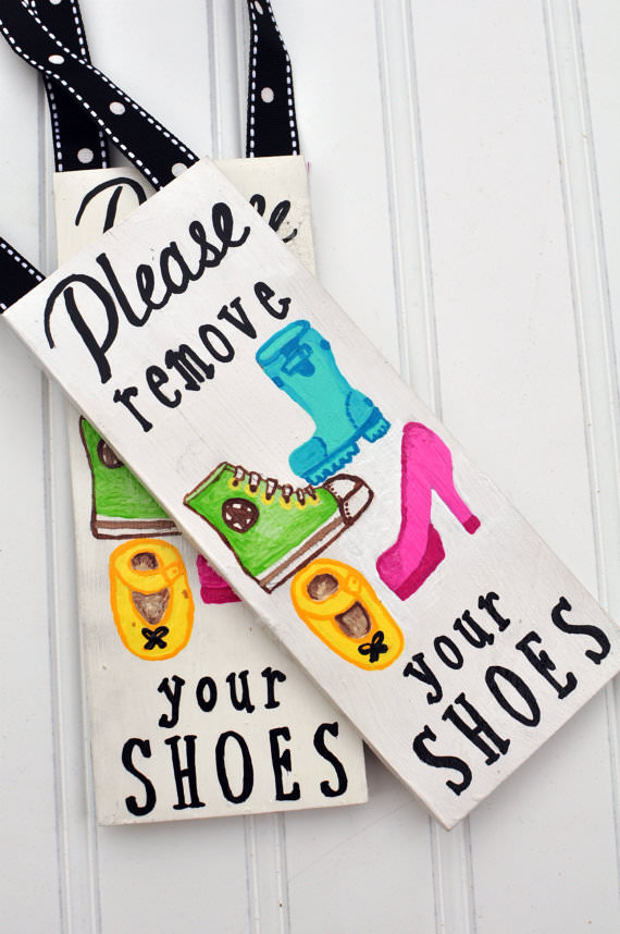 picture regarding Please Remove Your Shoes Sign Printable Free named Take away The Footwear! 10 Innovative Symptoms For Readers Suggestion Junkie