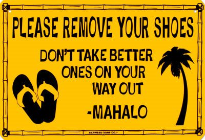 image regarding Please Remove Your Shoes Sign Printable Free identified as Take away The Sneakers! 10 Resourceful Signs or symptoms For Readers Idea Junkie