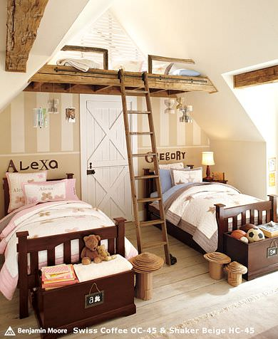 Rustic Holden & Alexa bedroom