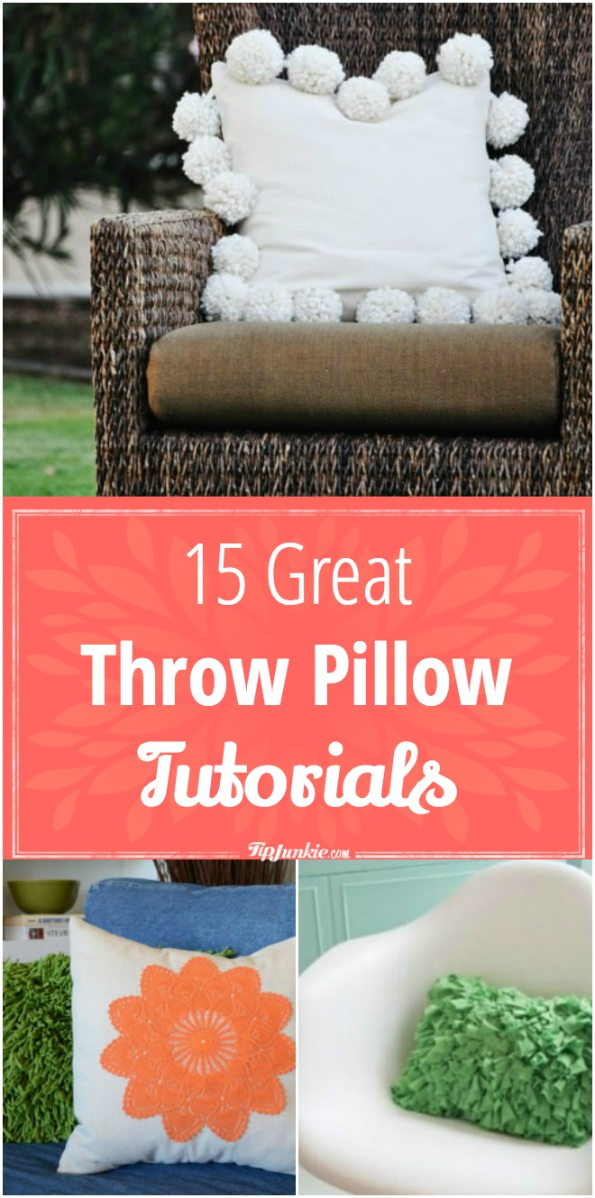 15 Great Throw Pillow Tutorials