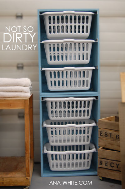 Laundry Basket Dresser tutorial