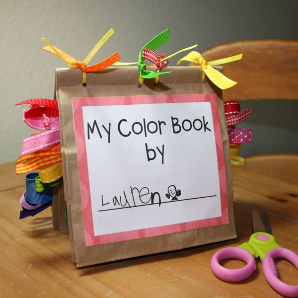 Free printable color book preschool craft tip junkie for Book craft ideas