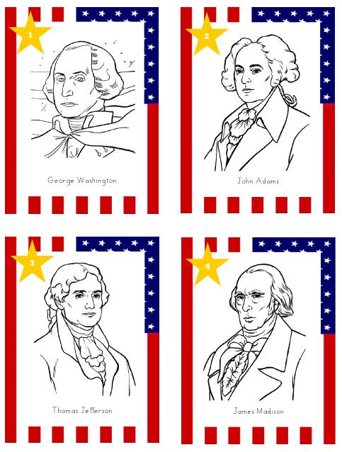 US Presidents Printable Cards