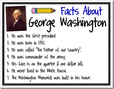 Facts about Abraham Lincoln and Facts about George Washington