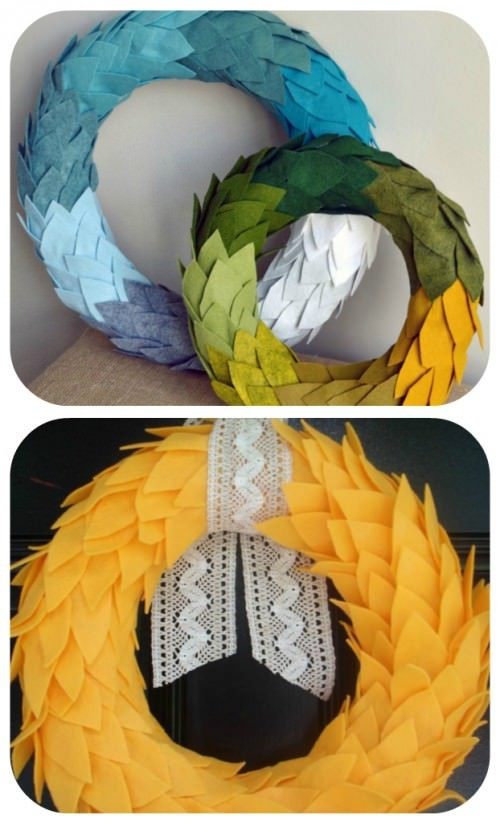 Felt Wreath Tutorials