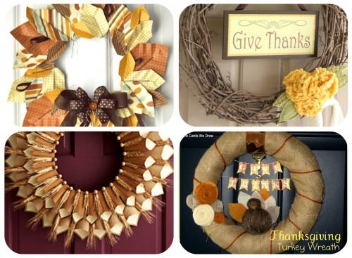 How to Make Thanksgiving Wreaths