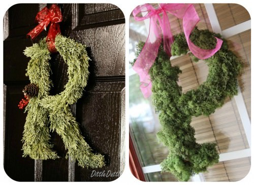 How to make a moss wreath