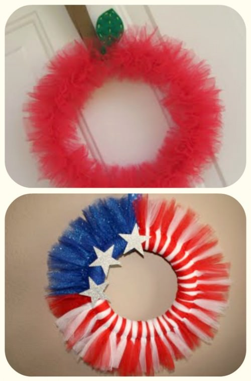 how to make Tulle Wreaths