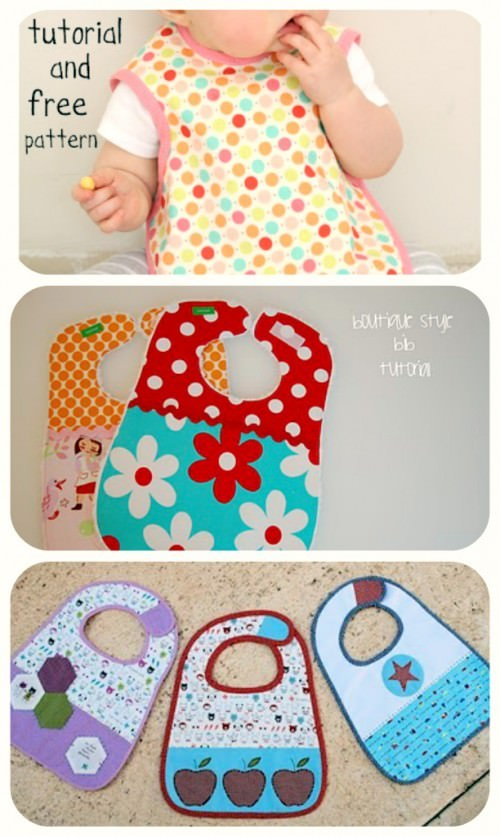 Baby Bib Tutorials