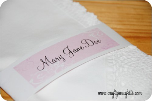 Personalized Mother's Day Napkin Wraps