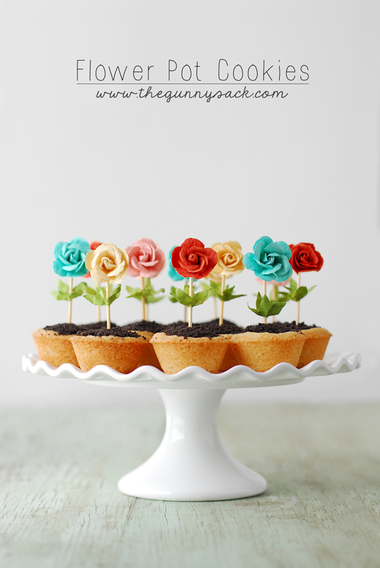 flower pot cookies