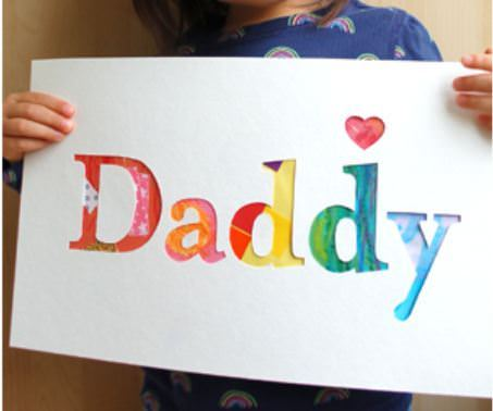 Daddy & Grandpa Cut Out Watercolor Card Template
