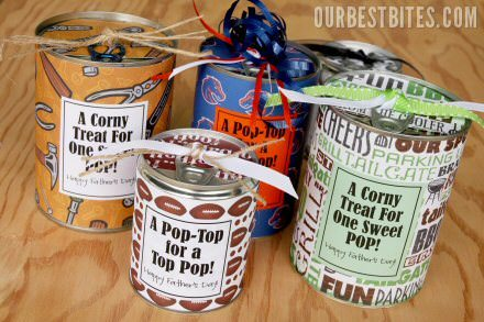 Tin Can Treats for Father's Day