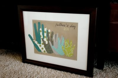 Family Handprint Gift for Dad