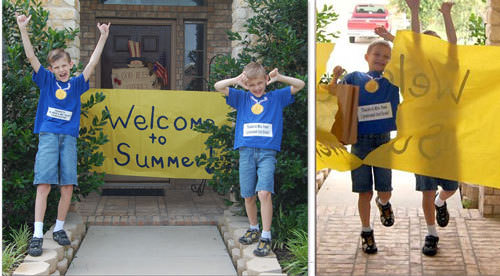 Welcome To Summer Banner for the End of School