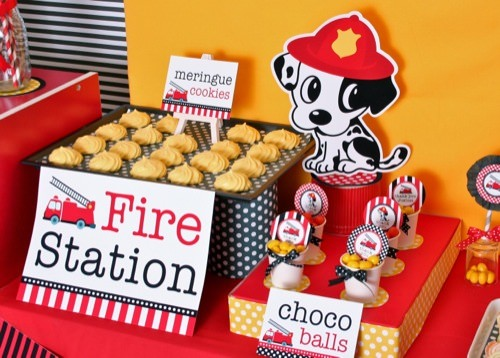 101 Dalmatians & Firefighter Birthday Party