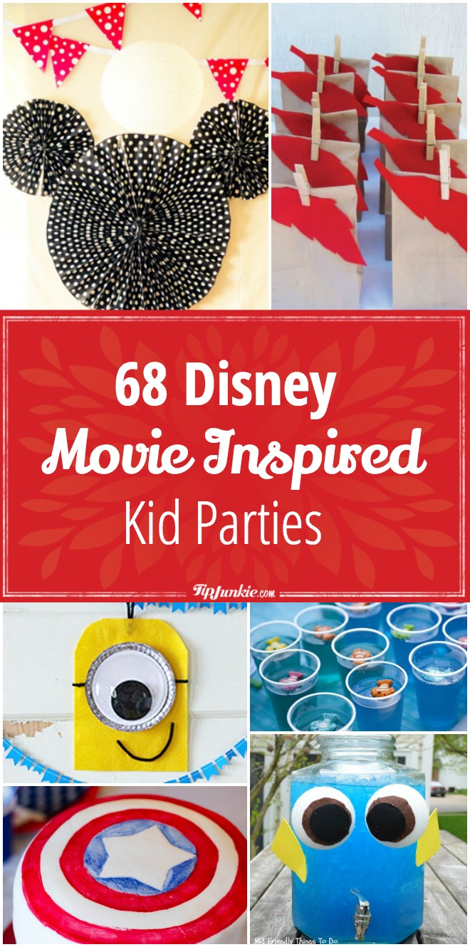 68 Disney Movie Inspired Kid Parties [wow!]