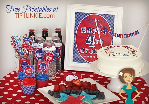 7 July 4th Party Printables For Your Celebration!  {FREEBIE}