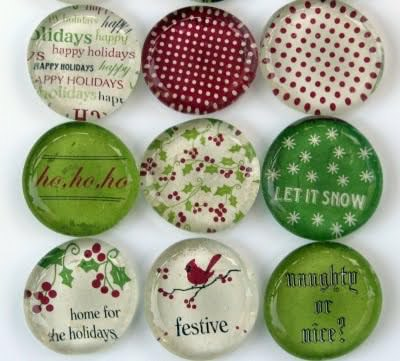 DIY Holiday Magnets