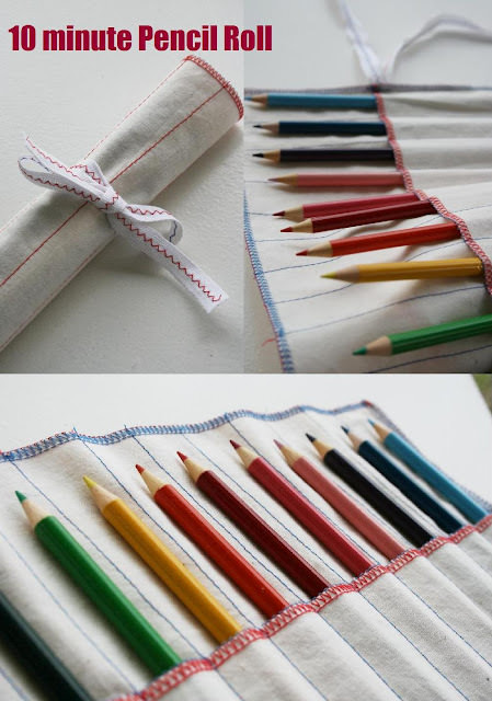 10 Minute Pencil Roll {Kids Gifts}