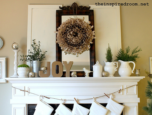 Vintage Winter Mantel