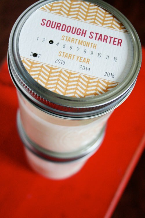 Sourdough Starter {free printable tag}