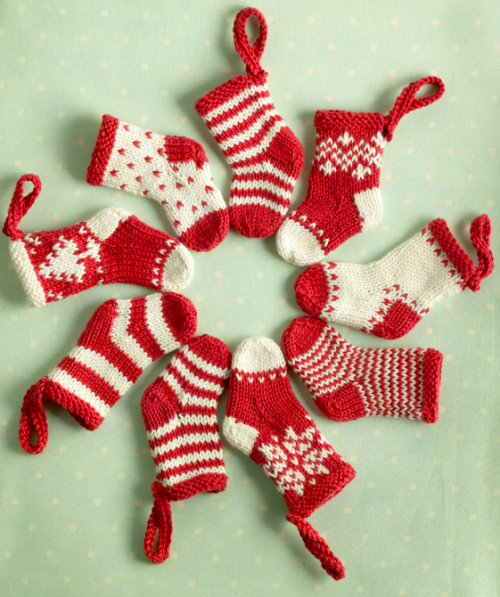 Knitted Mini Christmas Stocking