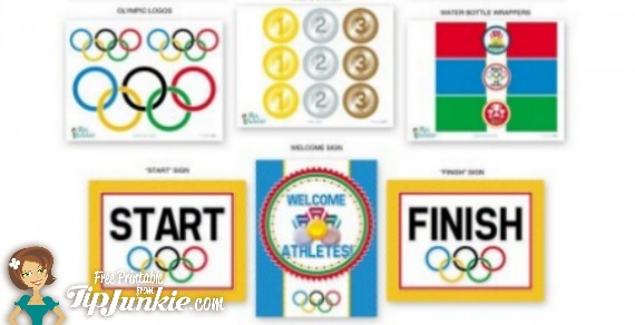 image relating to Printable Olympic Schedule known as 13 Olympic Game titles Printable Occasion Decor against Idea Junkie