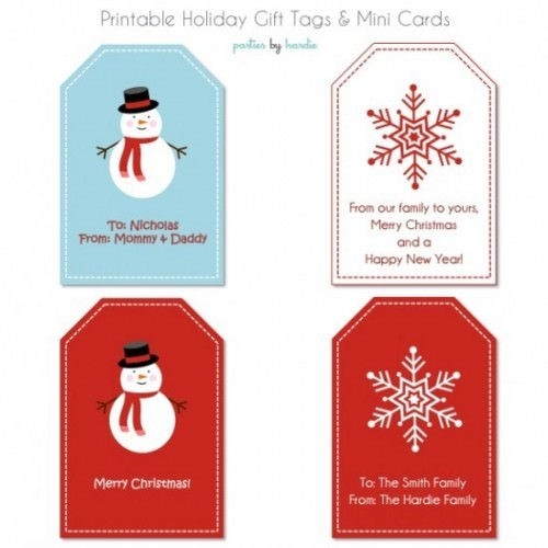 image about Christmas Tag Free Printable known as 17 Totally free Printable Xmas Reward Tags Idea Junkie