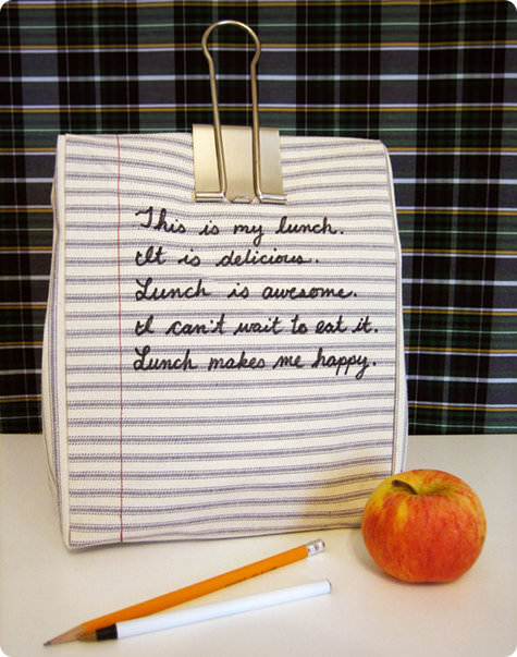 Notebook Lunch Bag