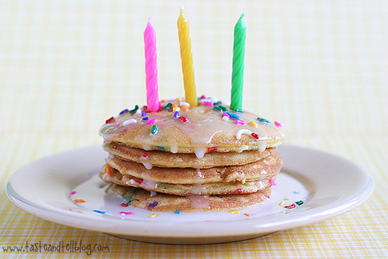 Homemade Birthday Cake Pancakes