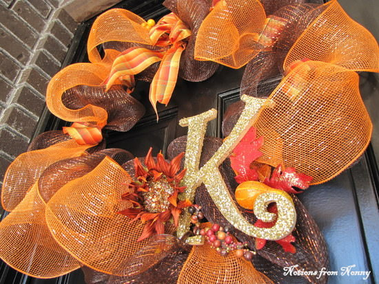 DIY Mesh Fall Wreath