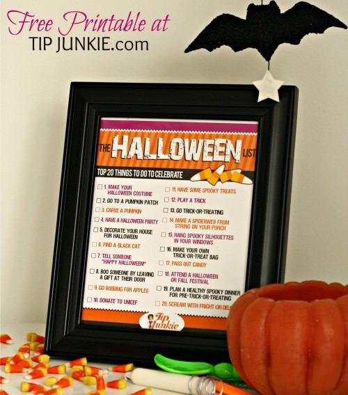20 Spooky Things to Do for Halloween {free printable}