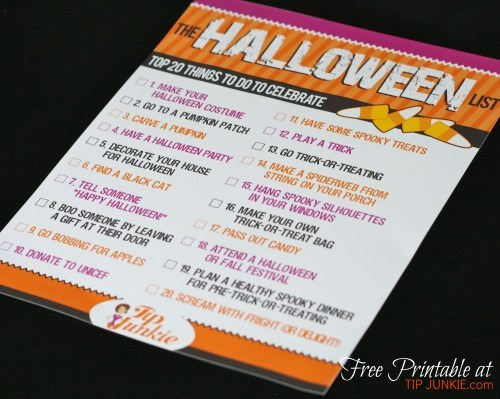 halloween printable list