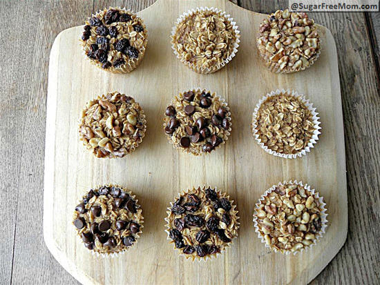 Oatmeal Muffins with Individual Toppings