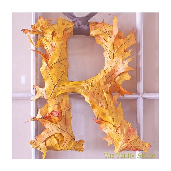 Monogram Leaf Wreath