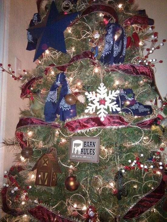 how to decorate a texas themed christmas tree tip junkie - Themed Christmas Trees