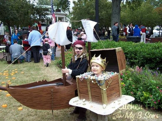 Pirate Ship & Treasure Chest Costumes