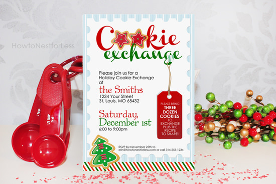 cookie exchange invitation free printable