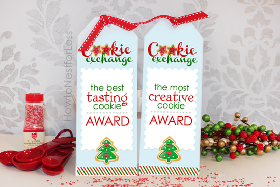 cookie exchange winner ribbons
