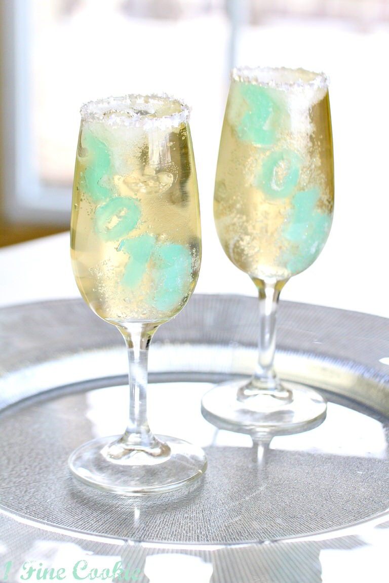 Champagne Jello Shots by 1 Fine Cookie 2font